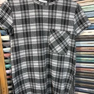 Zara Women's Short Sleeve  Plaid Blouse Size s